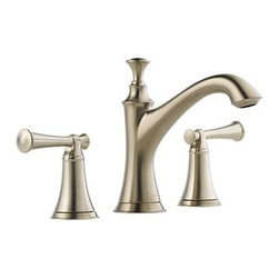 "Brizo - Brizo 65305LF-BNLHP Brushed Nickel Baliza Baliza Bathroom Faucet - Baliza Low Lead Compliant WaterSense Double Handle Widespread Bathroom Faucet Less HandlesA stunningly fresh perspective on traditional feel inspired by the timeless beauty of lighthouses. Metal pop-up included. Spout features water-efficient aerator.Faucet Features:Two handle lavatory faucet for concealed mounting on 3 hole applications.Widespread - 6"" (152mm) to 16"" (406 mm) centers.5 5/16"" (135 mm) long, 6 1/2 (165 mm) high rigid spout.LHP - Less Handle Program.  See handle options below.Control mechanism shall be of the rotating ceramic cylinder type with 90- (1/4 turn) rotation.Metal drain with pop-up type fitting with plated flange and stopper.Accommodates up to 3"" deck thickness.Maximum flow rate 1.5 gpm @ 60 PSI.Faucet Specifications:ADA Compliant: YesLow Lead Compliant: YesWaterSense Certified: YesOverall Height: 6.5""Width: 2.25""Spout Height: 4.3125""Spout Reach: 5.3125""Faucet Centers: 6"" - 16""Faucet Holes: 3Flow Rate (GPM): 1.5Product Weight: 3.250 lbs.Number Of Handles: 2Handles Included: NoDrain Assembly Included: YesEscutcheon Included: NoMounting Type: WidespreadValve Included: YesValve Type: Ceramic DiscBrizo Faucet TechnologiesADA Compliant: Some people, and some local codes, require fixtures that are compliant with the Americans with Disabilities Act.WaterSense: The WaterSense label signifies Brizo s commitment to working with the Environmental Protection Agency (EPA) to encourage the efficient use of water and actively protect the future of our nation s water supply. WaterSense labeled faucets use 20% less water and perform as well or better than their less efficien"