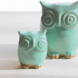 Mint Green Owl And Owlet Mother And Child Home Decor - This mother and baby owl decor is perfect for a child's room, but I think it's sophisticated enough for a living room or bedroom too.