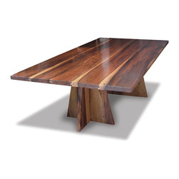"Luca Dining Table - This solid-wood dining table, shown in 96"" X 48"", is available in any size, any material, any finish.  Each one is hand-made in Buenos Aires."