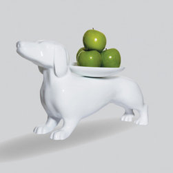 Happy Hot Dog Display Tray - This is the funniest and cutest piece of servewear I've seen, and trust me, I've been looking at A LOT of it lately. Make your guests laugh with this funny weiner dog stand. Maybe you'll even serve weiners-in-a-blanket from it!