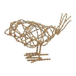 Lazy Susan - Brass Scribble Small Bird - Brass Scribble Small Bird