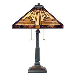 Quoizel Lighting - Quoizel TF885T Stephen Vintage Bronze Table Lamp - 2, 75W A19 Medium