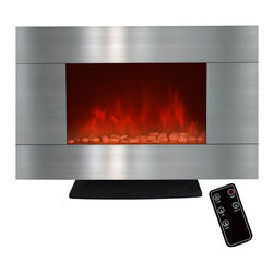 GOLDEN VANTAGE - GV 36-inch Electric Fireplace Wall Mount Or Floorstand W/Pebble And Led Light - Our electric powered fireplaces give off a simulated flame ambience without the danger associated with real fire, or the inconvenience of soot or smoke.These products come in many different designs to complement your existing style.You can also choose heat or ambient modes depending on your mood, 3D realistic design and 3 color led backlights.