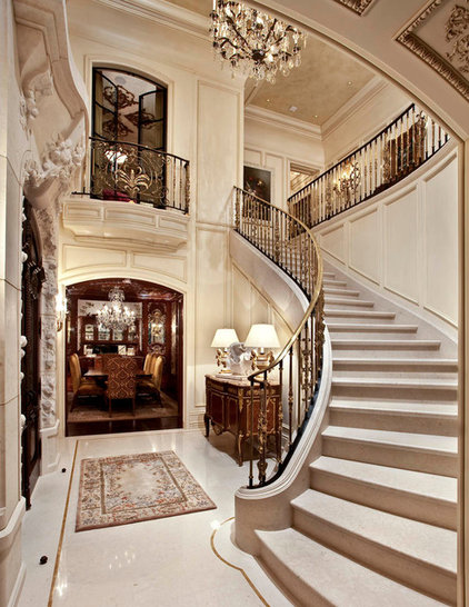Traditional Staircase by Monarch Stone International