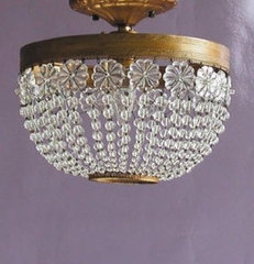 Lana flush mount light fixture canopy designs crystal clear rosettes iron metal
