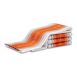 Williams-Sonoma Seasonal Contrast Logo Towels, Torch, Set of 4 - Maybe it's as simple as changing out your kitchen towels. These are part of a seasonal collection, and this burnt orange is perfect for fall.