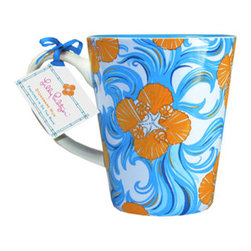 Lilly Pulitzer Cafe Lilly Mug - Do the Wave - Perk up your morning with this vibrant Lilly Pulitzer floral mug. For when coffee isn't enough!