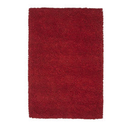 Loloi Rugs - Loloi Rugs Frankie Collection Rug, Red - Set your sights on the casual and fun Frankie Collection from India. Hand-woven of 100% New Zealand wool, this knobby surfaced rug adds robust texture and instant style without taking itself too seriously.