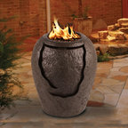 California Outdoor Concepts - La Jolla Waterfall Fire Pit - The combination of fire and water has had a proven relaxation effect on people for thousands of years so why wouldn't you incorporate a piece like this into your outdoor area.  Your guest will be sure to comment!