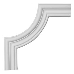 "Ekena Millwork - 8 3/4""W x 8 3/4""H, Claremont Panel Moulding Corner - 8 3/4""W x 8 3/4""H, Claremont Panel Moulding Corner. Our beautiful panel moulding and corners add a decorative, historic, feel to walls, ceilings, and furniture pieces. They are made from a high density urethane which gives each piece the unique details that mimic that of traditional plaster and wood designs, but at a fraction of the weight. This means a simple and easy installation for you. The best part is you can make your own shapes and sizes by simply cutting the moulding piece down to size, and then butting them up to the decorative corners. These are also commonly used for an inexpensive wainscot look."
