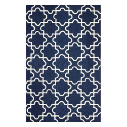 nuLOOM - Contemporary 5' x 8' Navy Hand Hooked Area Rug Trellis BC59 - Made from the finest materials in the world and with the uttermost care, our rugs are a great addition to your home.