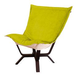 Howard Elliott - Howard Elliott Mojo Kiwi Milan Puff Chair - Milan puff chair mojo kiwi