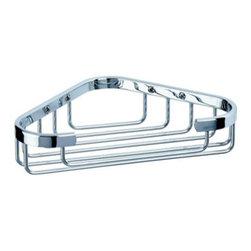 Geesa - Chrome Corner Shower Wire Sponge or Soap Holder - Contemporary style corner sponge holder.