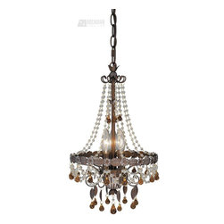 Vaxcel Lighting - Vaxcel Lighting VX-MN-CHU002RZ Brescia Traditional Mini Chandelier - The new alternative to flush mounts, mini chandeliers create an elegant atmosphere in any room -- from bedrooms to foyers to walk-in closets.