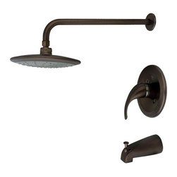 MR Direct - MR Direct 750-ORB Oil Rubbed Bronze 3 Piece Rain Head Shower Set - The 750-ORB 3-Piece Rain Head Shower Set is an ADA approved shower set that is available in a brushed nickel, oil-rubbed bronze or chrome finish. This set has a limited temperature stop that prevents scalding when there is a change in water pressure. The 750-ORB is pressure tested to ensure proper working conditions and is covered under a lifetime warranty. The rainfall spray head will create a relaxing experience that you will look forward to enjoying daily.