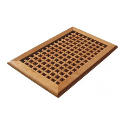 Welland - WELLAND RED OAK EGG CRATE WOOD WALL VENT FLOOR REGISTER MULTI SIZE, 10''x 12'' - Feature:
