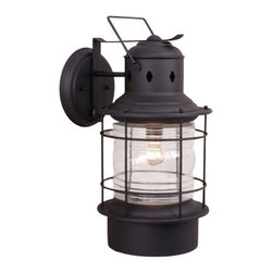 Vaxcel - Hyannis Outdoor Wall Sconce - Vaxcel OW37081TB Hyannis Textured Black Outdoor Wall Sconce