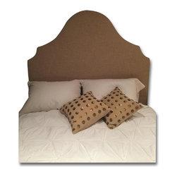 West Elm Full Princess Headboard and Chocolate Bedframe - Retail Price: $850