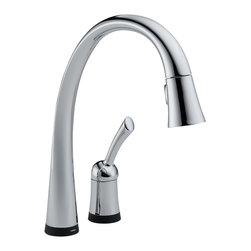 Delta Single Handle Pull-Down Kitchen Faucet with Touch2O(R) Technology - 980T-D - Pilar(R) with Touch2O(R) Technology is a distinctive kitchen faucet that coordinates with any decor and provides all the convenient functionality Touch2O(R) Technology has to offer.