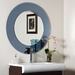 Decor Wonderland - Camilla Modern Frameless Bathroom Mirror - 35 diam. in. Multicolor - SSM500 - Shop for Bathroom Mirrors from Hayneedle.com! Add a touch of style to your bathroom with the Camilla Modern Frameless Bathroom Mirror. This graceful mirror features a 1 inch bevel on the outside glass border and a 1/2 inch bevel on the inside layer of glass. Its construction includes 3/16 glass and metal and features a double coated silver backing with seamed edges for added durability. Your purchase also includes all necessary mounting hardware so that you can hang the mirror in a vertical or horizontal position.