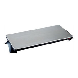 "Toastess - Cordless Warming Tray (4 Plates) - -Warming surface measures 23.75 x 11.75 -8 minute warm up time -Stays hot for 60 minutes after unplugging -Automatic temperature control protects against overheating -2 indicator lights  red Power light, green Ready light -Stay cool handles -Detachable cord -Dimensions: 4.4""H x 28.4""W x 14.4""D This cordless warming tray is ideal for entertaining as well as for everyday use. It stays hot for 60 minutes after unplugging and features automatic temperature control which protects against overheating. The detachable cord and stay cool handles are all designed for your convenience."
