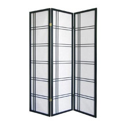 ORE International - 3-Panel Folding Room Divider - Hinged sections flex and fold. Dry dust. White rice paper panels. Screen made of wood frame . Made from pine. No assembly required. 50 in. L x 6 in. W x 70 in. H (10 lbs.)Add style to any room with this Contemporary screen. Versatile way to define spaces or create an element of privacy in any decor. Modern with a classic Asian inspired appeal.
