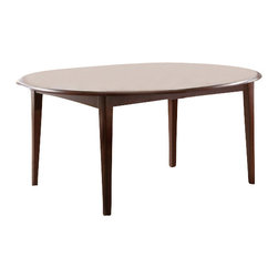 "Coaster - Dining Table (Cherry) By Coaster - Accommodate an array of dinner party sizes with this versatile oval dining table. The table comes with ac 22"" extension leaf to increase table space and to act as a space saver depending on the occasion. Option of a drop leaf makes this table one of a kind. Matching chairs available separately. Dims: 48""-70"" X 48"" X 30""."