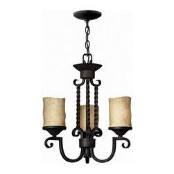 Hinkley Lighting - Hinkley Lighting 4013OL Casa Olde Black 3 Light Chandelier - Hinkley Lighting 4013OL Casa Olde Black 3 Light Chandelier