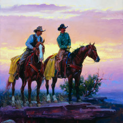 Murals Your Way - The Searchers Wall Art - Painted by Jack Sorenson, the The Searchers wall mural from Murals Your Way will add a distinctive touch to any room