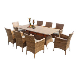 TKC - Tuscan Rectangle Dining Table With 8 Chairs 2 for 1 Cover Set - 2 for 1 Special: