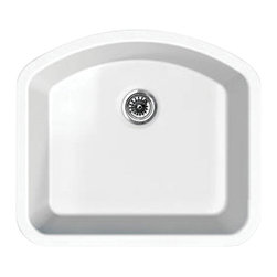 Whitehaus Collection - Whitehaus WHE2421D Elementhaus Undermount Large Single D-Bowl Fireclay Sink - Elementhaus Series D-bowl Fireclay Sink in White by Whitehaus Collection. This fireclay Sink is made of 100% organicmaterial. The timeless design can be installed as an under-mount or a drop-in application. This sink will be the center piece of your kitchen for years to come.