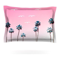 "Kess InHouse - Bree Madden ""Pink Cali"" Pillow Sham (Cotton, 30"" x 20"") - Pairing your already chic duvet cover with playful pillow shams is the perfect way to tie your bedroom together. There are endless possibilities to feed your artistic palette with these imaginative pillow shams. It will looks so elegant you won't want ruin the masterpiece you have created when you go to bed. Not only are these pillow shams nice to look at they are also made from a high quality cotton blend. They are so soft that they will elevate your sleep up to level that is beyond Cloud 9. We always print our goods with the highest quality printing process in order to maintain the integrity of the art that you are adeptly displaying. This means that you won't have to worry about your art fading or your sham loosing it's freshness."