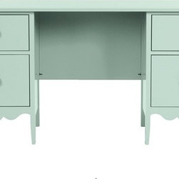 Nellie Desk - This cottage charmer has plenty of storage and a nice long surface for taking care of business. I'm imagining it with a Simon Pierce or Tony Oliveri lamp on top, perhaps accompanied by a John Derian decoupage paperweight and a small vase of flowers.