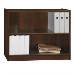 "Bush - Bush Universal 30""H 2 Shelf Wood Bookcase in Vogue Cherry - Bush - Bookcases - WL1244703 - The Bush Universal Bookcase is small and versatile in the range of different spaces in can occupy in your home or office. This item is ideal for turning small awkward spaces into functional storage space. It�s simple to put together and ideal for books and other items."