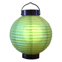 "Oriental-Décor - 8"" Meadow Green Glowing Lantern - Green signifies intelligence, nature, youth and wealth. It also has a calming effect and is a natural stress reliever. This exquisite green glowing Asian lantern will not only illuminate your home, it will brighten your mood. Use this magnificent glowing lantern from Asia in either an indoor setting or outside. These stunning battery lanterns can be hung from trees, placed on any flat surface and or hung from your ceiling. Use one or string a series of them together in multiple colors for a colorful and exciting look. Asian decor was never so much fun with our glowing Asian lanterns."