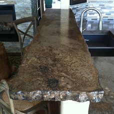 Rustic Kitchen Countertops by All Star Concrete