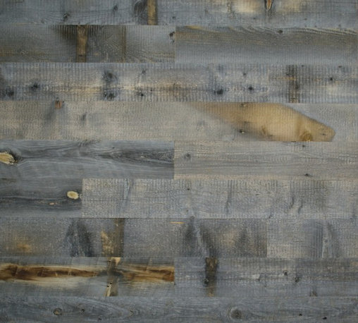 Stikwood - Reclaimed Weathered Wood, Box 40 sqft - These solid wood, thinly milled planks have an adhesive backing, making them perfect for wall installations. The weathered wood option looks like it is made for a study or media room, to create a cozy, rustic-inspired space.