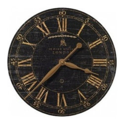 "UTTERMOST - Bond Street Wall Clock - 18"" - This decorative wall clock features:"