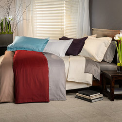None - Micro-checkered 800 Thread Count Duvet Cover Set - Experience true comfort and luxury with this micro-checkered duvet cover set.  Elegant yet durable,this duvet is exquisitely designed and expertly tailored to provide the ultimate nights sleep.