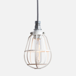 Cage Light Pendant - Metal Top
