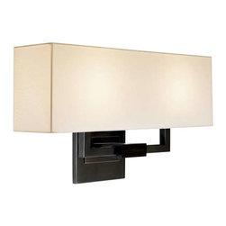 Sonneman - Sonneman 2-Light Hanover Wall Sconce in Black Brass - 3384-51 - -Product Finish: Black Brass