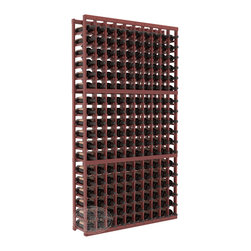 10 Column Standard Cellar Kit in Redwood with Cherry Stain + Satin Finish - This rack is vital to any serious wine collector. Rock solid assembly of high grade pine or redwood is guaranteed to last. Designed for expandability, stability and rigidity; we don't top-load an extra bottle to meet our specs.