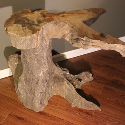 Driftwood Tables - Custom Driftwood end table.  For sale at etsy store- Cleverstone