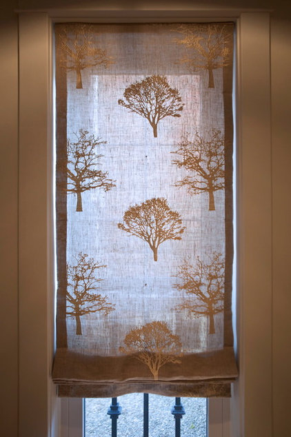Eclectic Roman Shades by Nest Design Studio