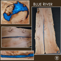 Blue River Slab TableTop - Outside The Box Woodworking