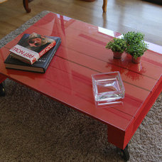 eclectic coffee tables pallet table