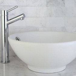 None - Round Vitreous China Vessel Sink - Add a touch of contemporary style to any bathroom decor with a white vessel sink Home improvement hardware features a stylish above-the-counter design Sink offers vitreous china construction