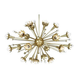 Robert Abbey Lighting - Robert Abbey Jonathan Adler Sputnik Chandelier in Antique Brass - Jonathan Adler Sputnik Chandelier in antique brass by Robert Abbey. See additional image for product specifications.