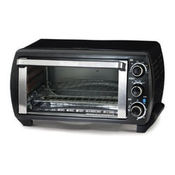 "Focus Electrics - WB Toaster Oven 6Slice Blk SS - West Bend 6 Slice Toaster Oven. Platinum Edition Countertop Ovens feature seek design lines and stainless steel accents. Cook a 12 inch frozen pizza in less time than it takes to preheat a standard oven. Large interior can hold a 12"" pizza  6 slices of bread  casseroles  and other baked goods. Cook settings include Bake  Broil  and Toast.  60 minute timer with automatic shut-off.  1380 watts  This item cannot be shipped to APO/FPO addresses. Please accept our apologies."