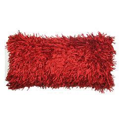 Plush Mulberry Pillow, Red - Plush mulberry pillow.
